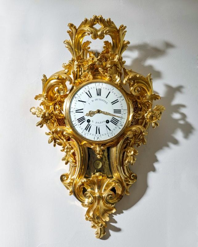A Louis XV cartel clock of month duration by Jean-Baptiste II Dutertre , Paris, date circa 1755-60