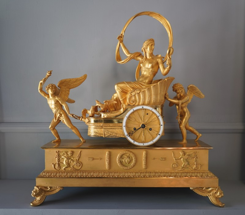 An Empire gilt bronze chariot clock by Louis Moinet housed in a case by Pierre-Philippe Thomire, Paris, date circa 1815-20