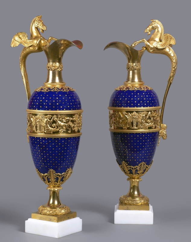 A pair of Louis XVI ewers, Paris, date circa 1785