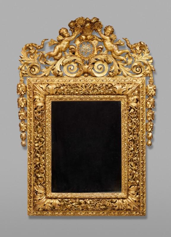 A Louis XIV mirror, France, date circa 1710