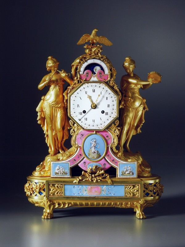 A late Louis XVI mantel clock, the enamel work by Joseph Coteau and movement by Dieudonné Kinable, Paris, date circa 1785