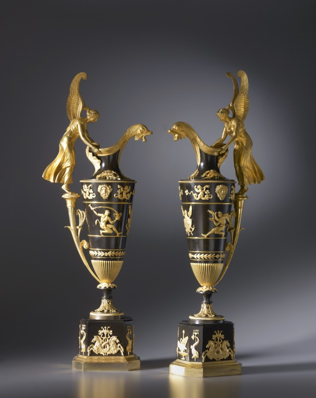 A pair of Empire ewers by Claude Galle, Paris, date circa 1810