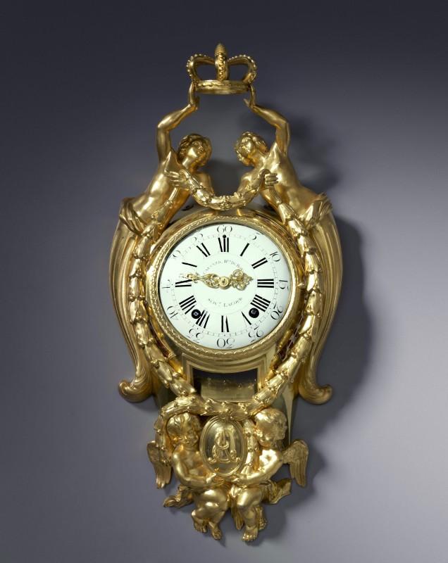 A Louis XVI cartel clock, by Causard Hgr du Roy, Suivt Lacour, Paris, date circa 1775