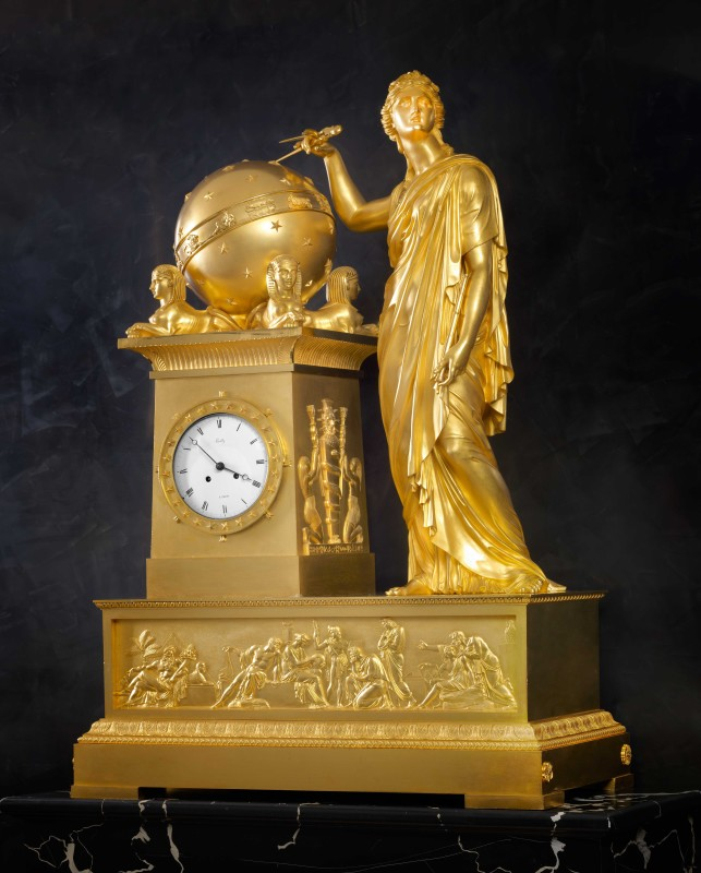 An Empire mantel clock by Bailly, case attributed to Denière, Paris, date circa 1805-10
