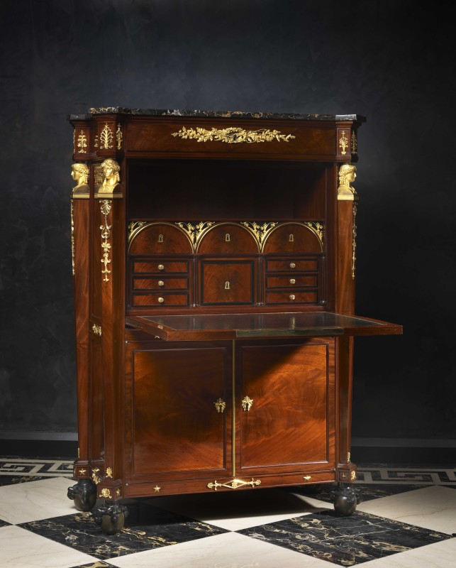 An Empire mahogany secrétaire à abattant and matching commode by Guillaume Benneman, Paris, date circa 1800