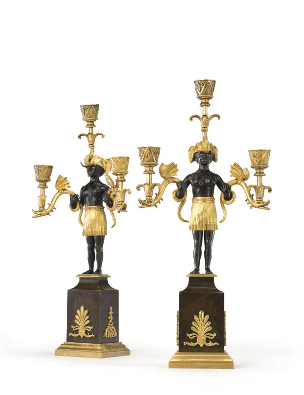 A pair of Directoire candelabra by Jean-Simon Deverberie, Paris, date circa 1800
