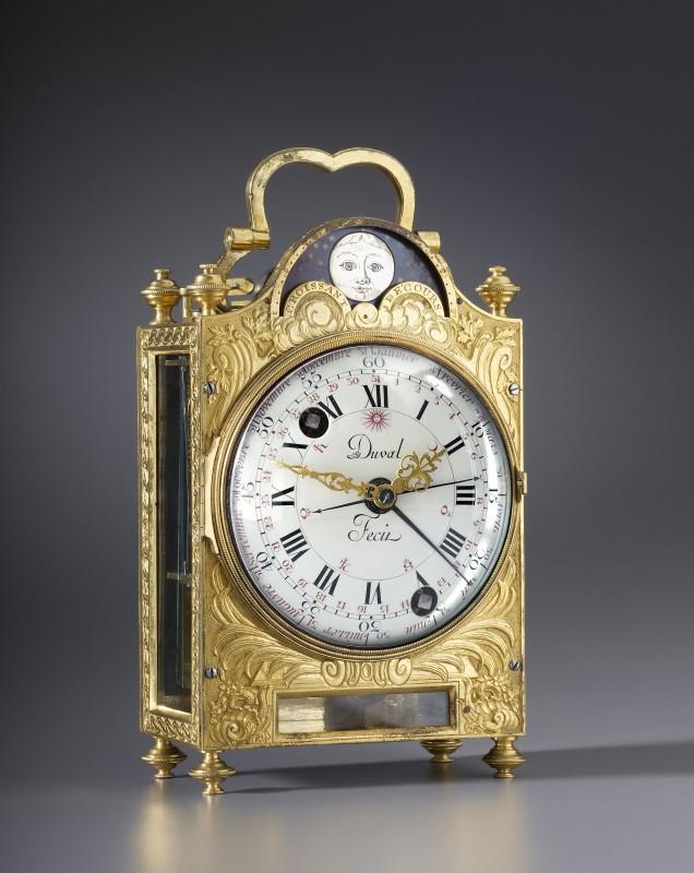A Louis XVI travelling clock, by Frédéric Duval, Paris, date circa 1775