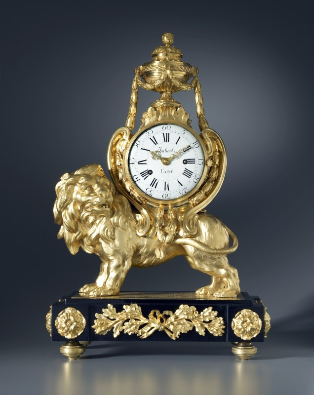 A Louis XVI Pendule 'Au Lion' by Jean-Gabriel Imbert, the case attributed to François Vion, Paris, date circa 1770