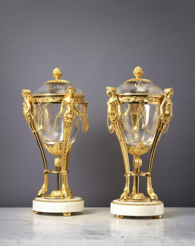 A pair of Louis XVI cassolettes attributed to Antoine-Philippe Pajot, Paris, date circa 1775-80