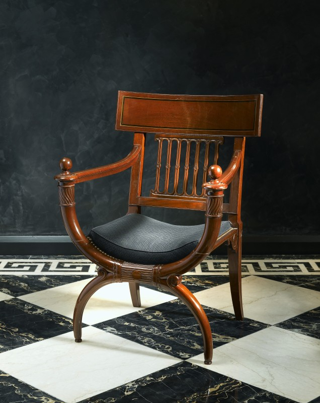 A Directoire fauteuil attributed to Georges Jacob after a design by Charles Percier, Paris, date circa 1795