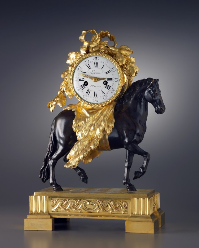 A Louis XVI pendule 'Au Cheval' by Lepaute, the case attributed to Fançois Vion, Paris, date circa 1780