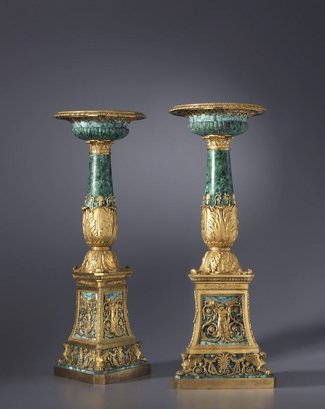 A pair of Empire tazze made by Pierre-Philippe Thomire, Paris, date circa 1811