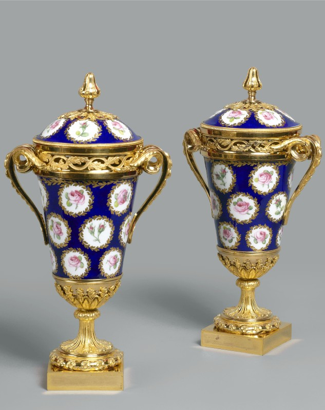 A pair of Louis XVI pot-pourri vases and covers, Paris, date circa 1775-80