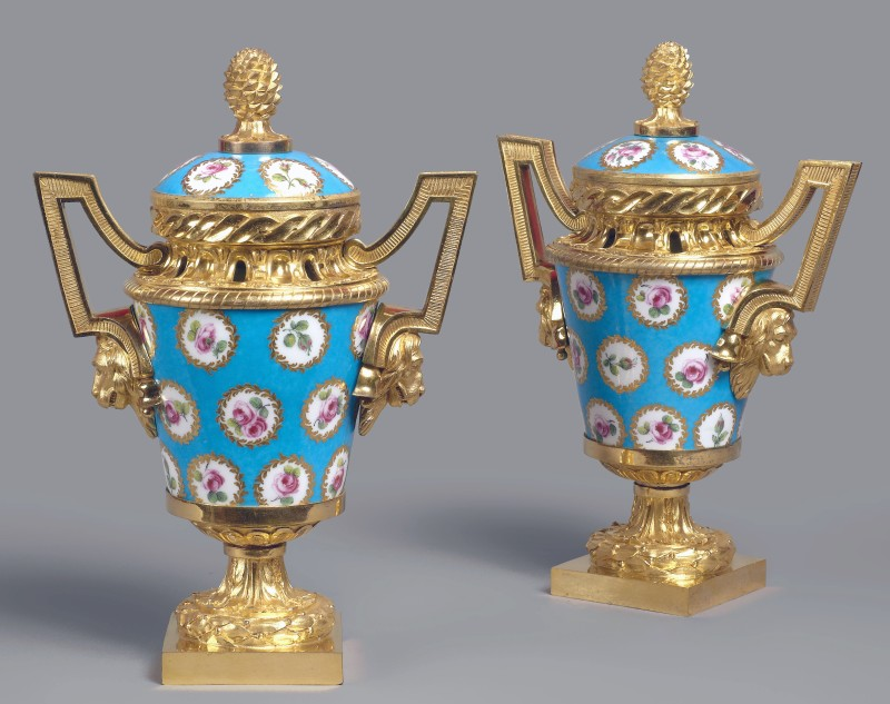 A pair of Louis XVI pot-pourri vases and covers, Paris, date circa 1770