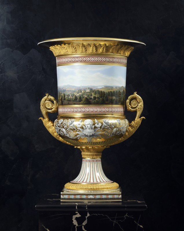 A Classical Medici vase made by the Royal Berlin Porcelain Manufactory , Berlin, date circa 1838