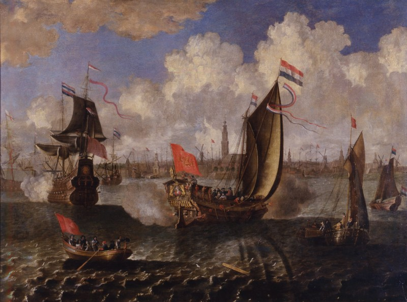A State Visit, Probably of King Charles II of England to the City of Rotterdam and Antwerp, Attributed to either Abraham Storck or Jan Baptist Bonnecroy, Date circa 1650-70