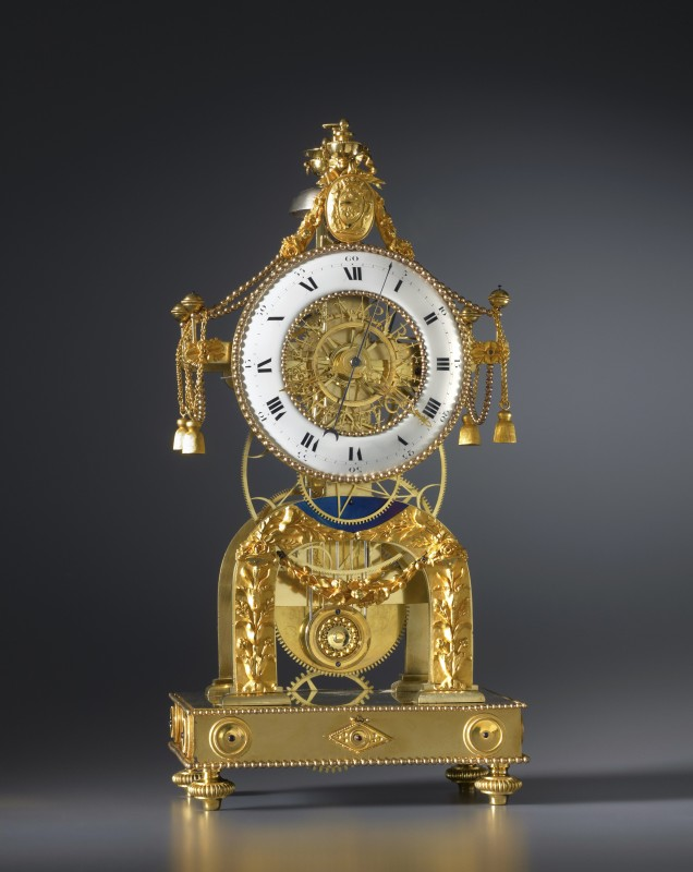 A Directoire skeleton clock, by N. J. Bellet, Paris, date circa 1795