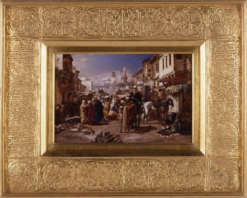 """""""The Arab Bazaar"""" by Heinrich Maria Staackman, München, 1884"""