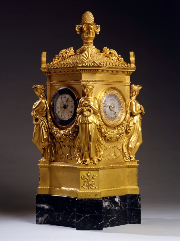 An Empire astronomical clock by Jean Joseph Lepaute, Paris, dated 1808