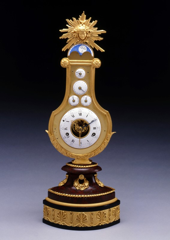 A Louis XVI astronomical lyre clock attributed to Jean-Louis Bouchet and most probably retailed by Martinet à Paris, Paris, date circa 1785
