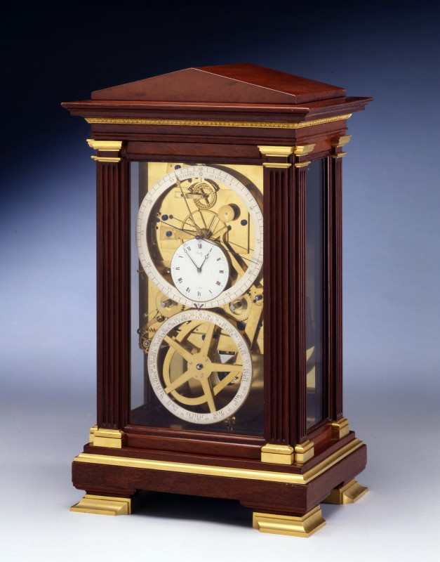 An Empire table regulator of month duration, signed on the white enamel dial Bailly, escapement by Lory, Paris, dated 1818