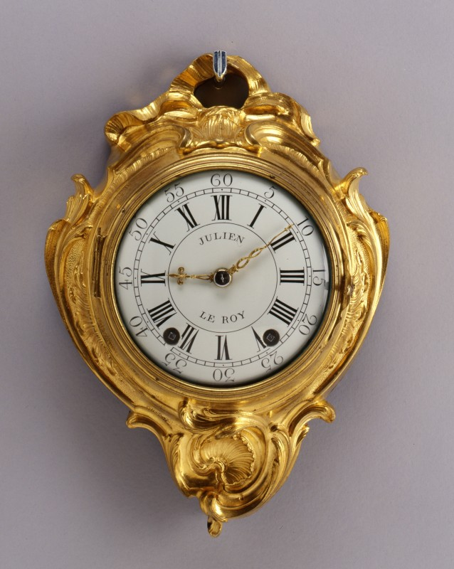 A small sized Louis XV cartel clock by Julien Le Roy, Paris, dated 1745-9