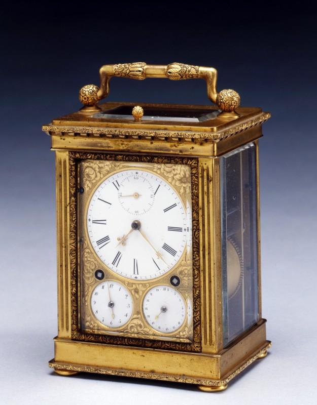 An early nineteenth century Swiss gilt brass Grande Sonnerie carriage clock, by Frédéric-Alexander Courvoisier, Switzerland, date circa 1830-35