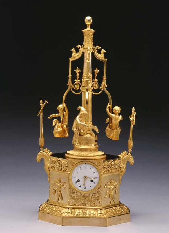 A Restauration automaton 'Pendule au Manège' by Louis-Jacques Vaillant, Paris, date circa 1815-30