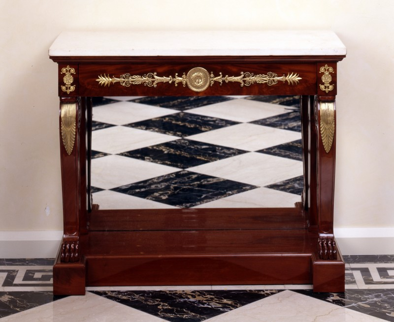 An Empire console by Jacob-Desmalter et Cie., Paris, date circa 1805