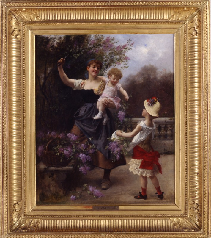 """Picking Flowers with Mother"" by Benjamin Vautier, 1877"