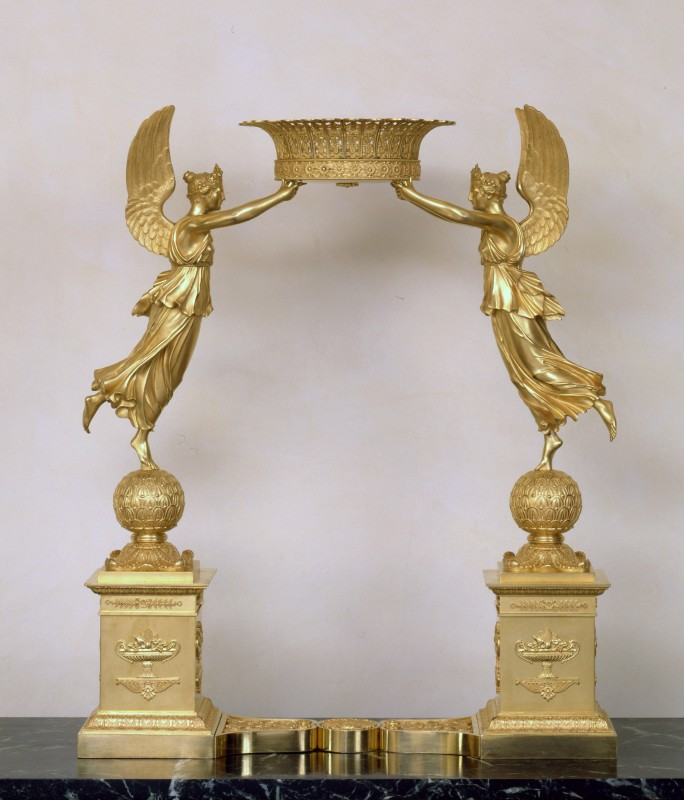 An Empire figural centrepiece attributed to Pierre-Philippe Thomire , Paris, date circa 1810