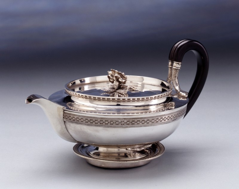 A Regency teapot on stand by Benjamin Smith, London, dated 1806