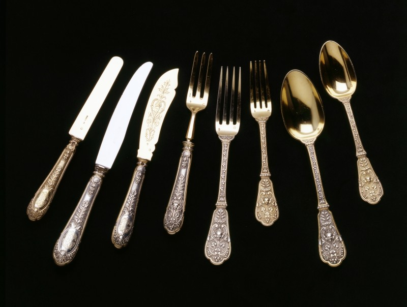 A cutlery service comprising 204 pieces, by Jean-Baptiste-Gustave Odiot, Paris, 1892