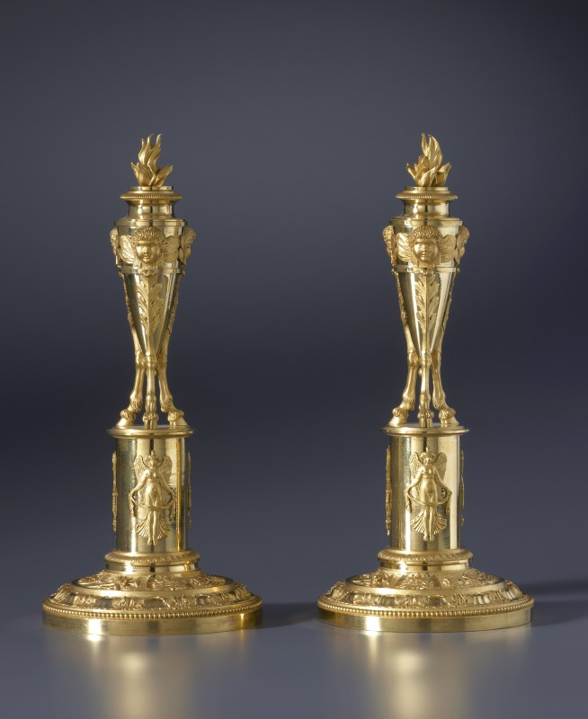 A pair of Directoire candlesticks attributed to Claude Galle, Paris, date circa 1795