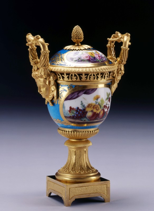 A Louis XVI Sèvres vase and cover gilded by Étienne-Henri Le Guay , Sèvres, Paris, date circa 1780
