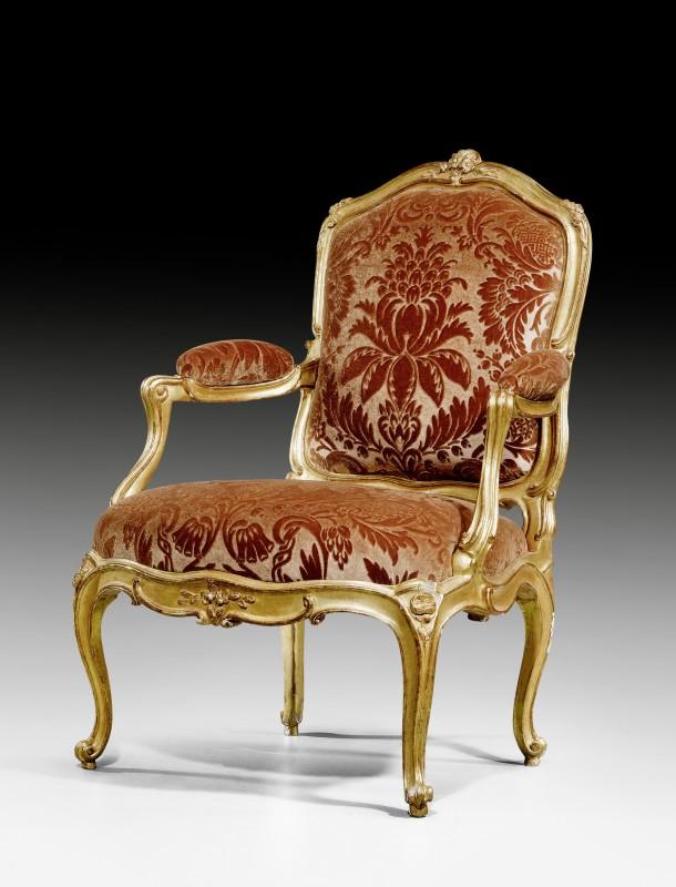 A Louis XV fauteuil by Blaise Maucuy , Paris, date circa 1760