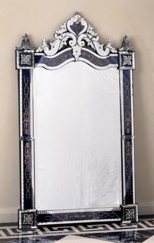 A 19th century Murano Venetian wall mirror of rectangular form, Murano, date circa 1860