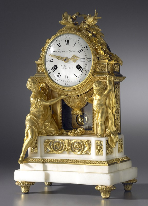 A Louis XVI mantel clock of eight day duration, by Imbert L'Ainé, Paris, date circa 1780