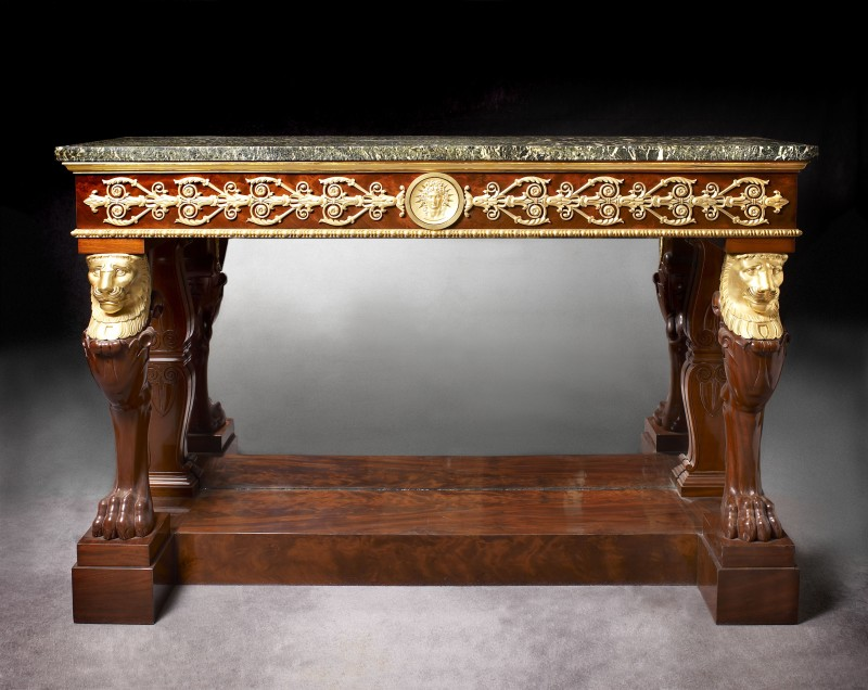 An Empire console attributed to Jacob-Desmalter et Cie, Paris, date circa 1805-1810