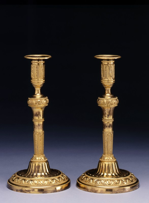 A fine pair of Louis XVI candlesticks, Paris, date circa 1780