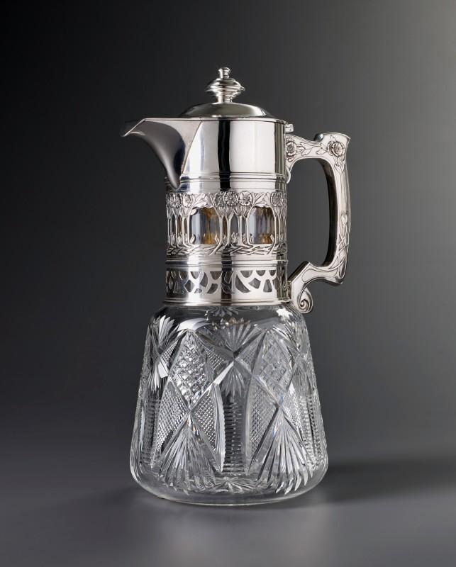 A Russian claret jug by Khlebnikov, Russia, 1890
