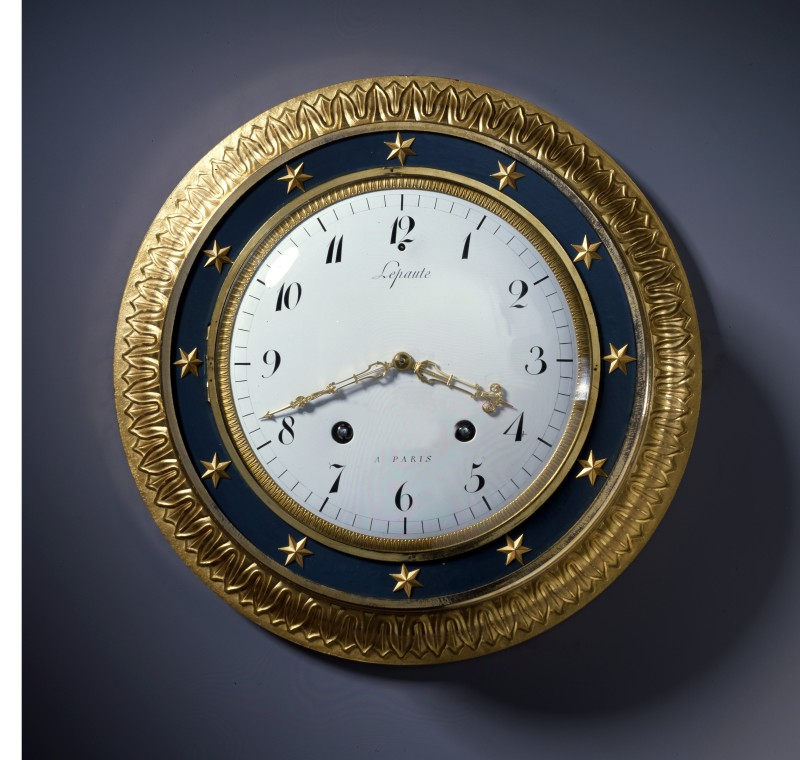An Empire Oeil de Boeuf cartel clock, by Pierre-Basile Lepaute (known as Sully Lepaute), Paris, dated 1806
