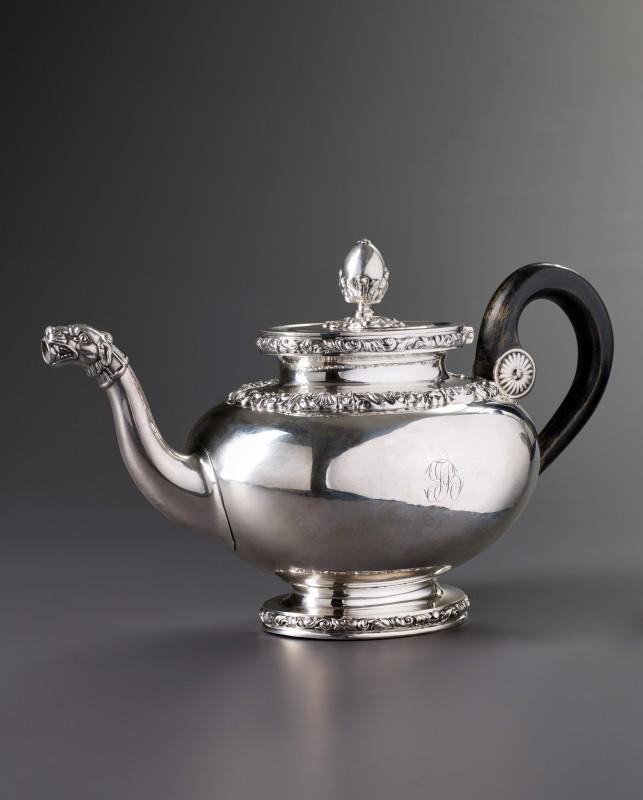 A Swiss tea pot, Lausanne, date circa 1830