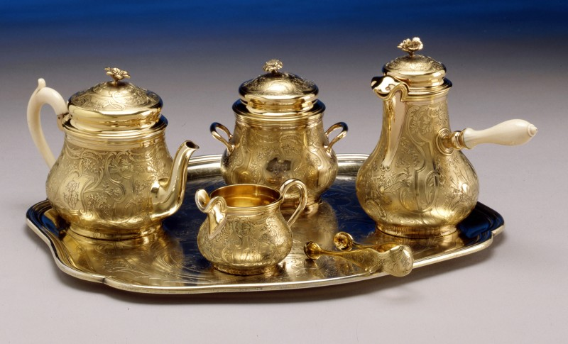 A breakfast set by Gustave Odiot, Paris, date circa 1890