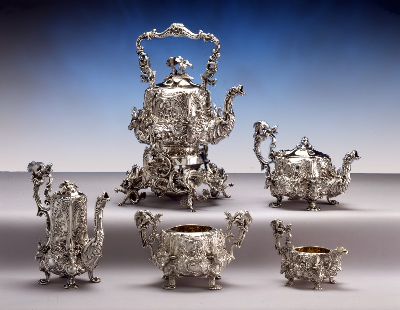 A French silver tea and coffee service, by Gustave Odiot, Paris, date circa 1870