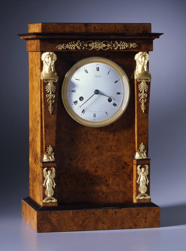 An Empire petit regulator, by Pierre-Basile Lepaute, Paris, dated by its accompanying letter 1812