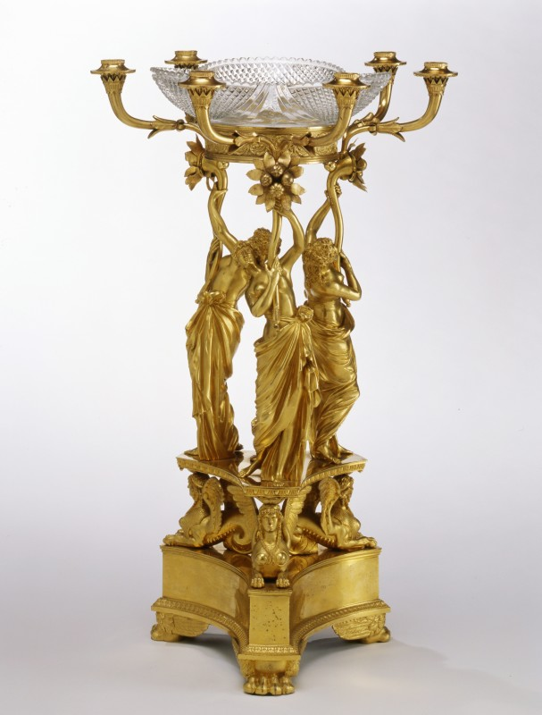 A Regency six-light centrepiece by Rundell, Bridge and Rundell, London, date circa 1815