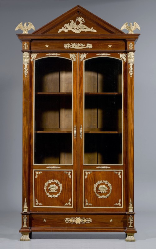 "An Empire style bookcase ""Aux Aigles"", Paris, date circa 1860"