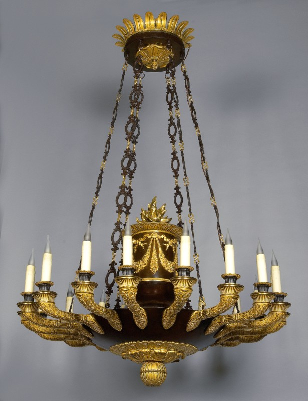 A Restauraion twenty four light chandelier, Paris, date circa 1820