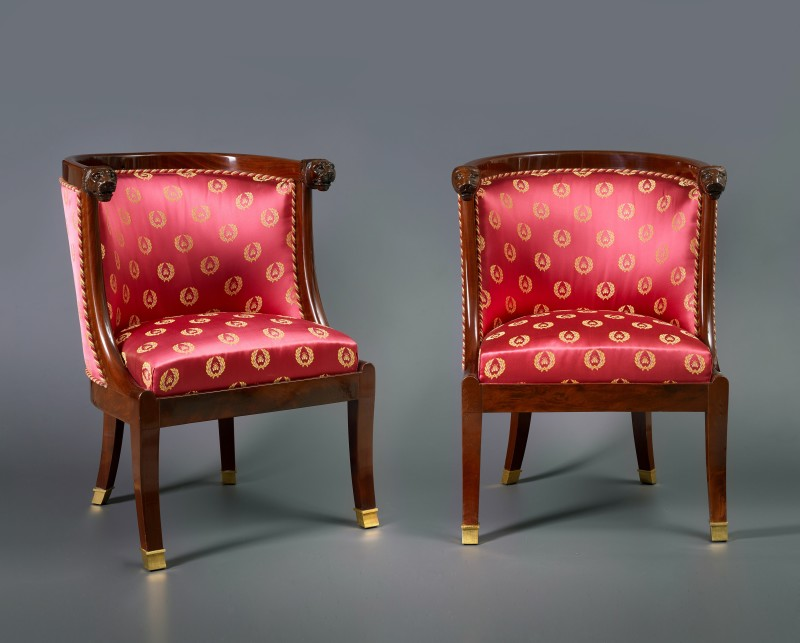 A set of four Empire fauteuils, Paris, date circa 1810